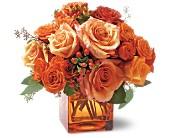 Teleflora's Orange Rose Mosaic in Manalapan NJ, Rosie Posies