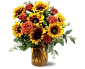 Rose and Sunflower Splendor in Staten Island NY, Eltingville Florist Inc.