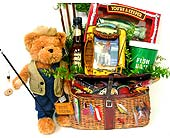 GF11 ''Fish Tales'' Food & Gift Basket in Oklahoma City OK, Array of Flowers & Gifts