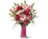 Teleflora's Pink Art Glass Bouquet in Edmonton AB, Petals For Less Ltd.