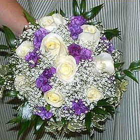 Roses, stock, babies breathe & mixed greens in Tuckahoe, New Jersey, Enchanting Florist & Gift Shop