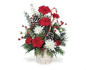 Candy Cane Bouquet in Big Rapids, Cadillac, Reed City and Canadian Lakes MI, Patterson's Flowers, Inc.