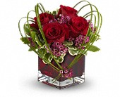 Teleflora's Sweet Thoughts Bouquet with Red Roses in Ammon ID, Petal Passion