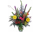 European Arrangement in Clear Ginger Jar in Dallas TX, In Bloom Flowers, Gifts and More