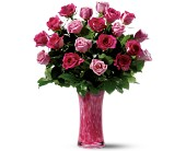 Teleflora's Pink Art Glass Bouquet - Deluxe in Toronto ON, Rosedale Kennedy Flowers