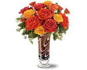 Teleflora's Swirls of Autumn Bouquet in Murrieta CA, Michael's Flower Girl