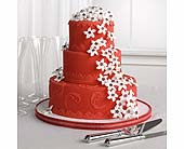 Red Fondant Cake with Stephanotis in Clovis, California, A Secret Garden