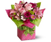Peaster Flowers - Teleflora's Pretty Pink Present - Remembrance Flower Shop