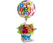 Teleflora's Happy Birthday Present Local and Nationwide Guaranteed Delivery - GoFlorist.com