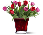 Boston Flowers - Teleflora's Tulips of Love Bouquet - Bunker Hill Florist