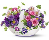Teleflora's Sweet Pansy Basket Bouquet in Savannah GA, Pink House Florist & Greenhouse
