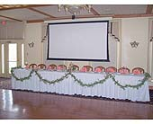 Head Table at Gamble Farm Inn in Williamsport, Pennsylvania, Janet's Floral Creations
