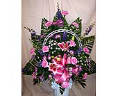 Pink & Lavender Basket in Indianapolis IN, Gillespie Florists