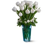 Winter White Tulips in Hendersonville NC, Forget-Me-Not Florist