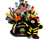 CB198 ''Firefighter Bear'' Candy Bouquet in Oklahoma City OK, Array of Flowers & Gifts