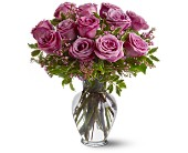 A Dozen Lavender Roses in New Iberia LA, Breaux's Flowers & Video Productions, Inc.