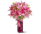 Teleflora's Pretty Pink Lilies in Nationwide MI, Wesley Berry Florist, Inc.