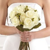 Deluxe Clutch Bridal Bouquet in Augusta GA, Ladybug's Flowers & Gifts Inc