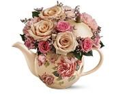 Teleflora's Victorian Teapot Bouquet in Santa Clara, California, Fujii Florist - (800) 753.1915