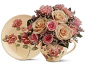 Teleflora's Victorian Teacup Bouquet in Greensboro, North Carolina, Sedgefield Florist & Gifts, Inc.