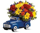 Livingston Flowers - Teleflora's '48 Ford Pickup Bouquet - Victor's Florist, Inc.
