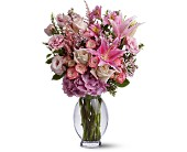 Teleflora's Pink Sonata in Houston TX, Clear Lake Flowers & Gifts