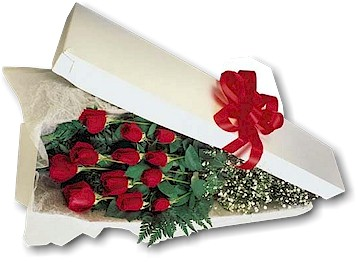 One Dozen Roses Boxed<br><font color=red>Local Onl in Barrie&nbsp;ON, The Flower Place