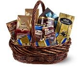 Chocolate & Coffee Basket in Vevay IN, Edelweiss Floral