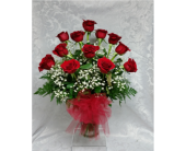 Dozen Roses in Raleigh NC, Gingerbread House Florist - Raleigh NC