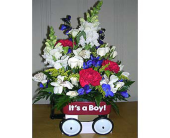 It's a Boy Wagon in Charlotte NC, Starclaire House Of Flowers Florist