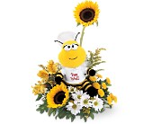 Teleflora's Bee Well Bouquet in Nationwide MI, Wesley Berry Florist, Inc.