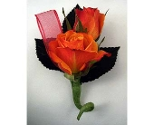 Two Sweet Heart Rose Boutonniere in Indianapolis IN, Gillespie Florists