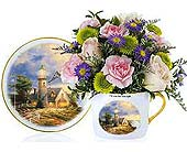 Thomas Kincaid Cup & Saucer in Oklahoma City OK, Array of Flowers & Gifts