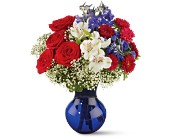 Red White and True Bouquet