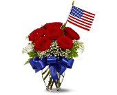 Spring Flowers - Star Spangled Roses Bouquet - Wildflower Florist