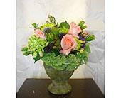 Moss Pot Pedestal in Newmarket ON, Blooming Wellies Flower Boutique