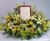 Full casket spray with photo in Lower Gwynedd, Pennsylvania, Valleygreen Flowers and Gifts