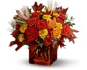 Teleflora's Fine Fall Roses in Liberal KS, Flowers by Girlfriends