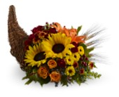 Brighton Flowers - Heavenly Cornucopia - Watertown Main St. Florist, LLC