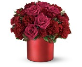 Teleflora's Say it in Scarlet Bouquet in Canisteo NY, B K's Boutique Florist