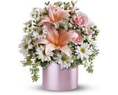 Teleflora's Tickled Pink Bouquet in Dubuque IA, New White Florist