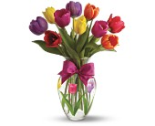 Teleflora's Spring Tulips Bouquet in Savannah GA, Pink House Florist & Greenhouse