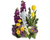 Teleflora's Sacred Grace Bouquet in Houston, Texas, Village Greenery & Flowers