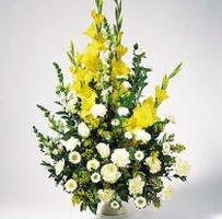 Yellow Gladiolus Arrangement in Mississauga ON, Orchid Flower Shop