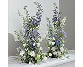 Blue and White Altar flowers in Portland, Oregon, Portland Florist Shop