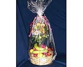 Fresh Fruit And Floral Basket in Lansing MI, Delta Flowers