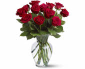 Dozen Roses, Vased in Royal Oak MI, Affordable Flowers