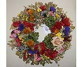 Dried Floral Wreath in Templeton CA, Adelaide Floral