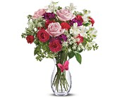 Pink Butterfly Bouquet by Teleflora in Nationwide MI, Wesley Berry Florist, Inc.
