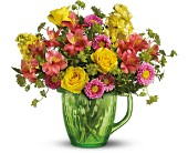 Teleflora's Spring Pitcher Bouquet in New Britain CT, Weber's Nursery & Florist, Inc.